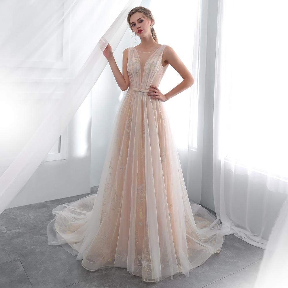 21228fd677ac The Mystic :: Celestial Lace Deep V Open Corset Back Boho Beach Wedding  Dress