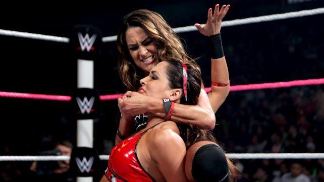 Nikki Does The Sleeper Hold On Brie Brie Bella Nikki Bella