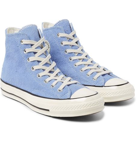 ecf6c0cbcfe4 CONVERSE CONVERSE - 1970S CHUCK TAYLOR ALL STAR SUEDE HIGH-TOP SNEAKERS -  LIGHT BLUE.  converse  shoes