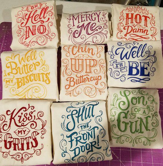Christmas towel gift saying
