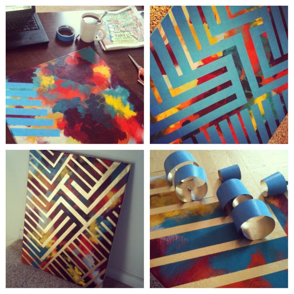 Paint Canvas Tape With Painters Tape Spray Paint Peel Off Tape