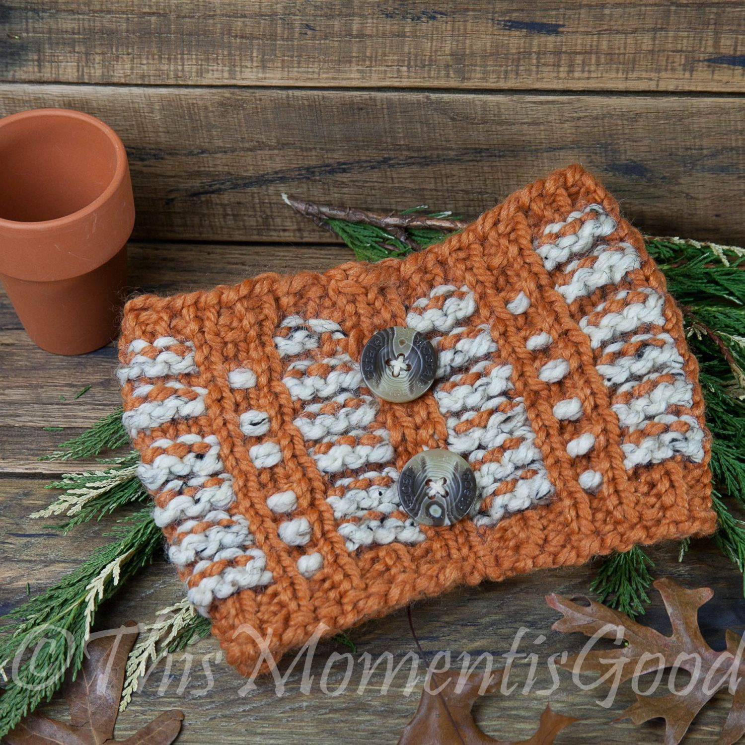 Loom Knit Pumpkin Spice Cowl PATTERN. Perfect for fall! Child, Teen ...