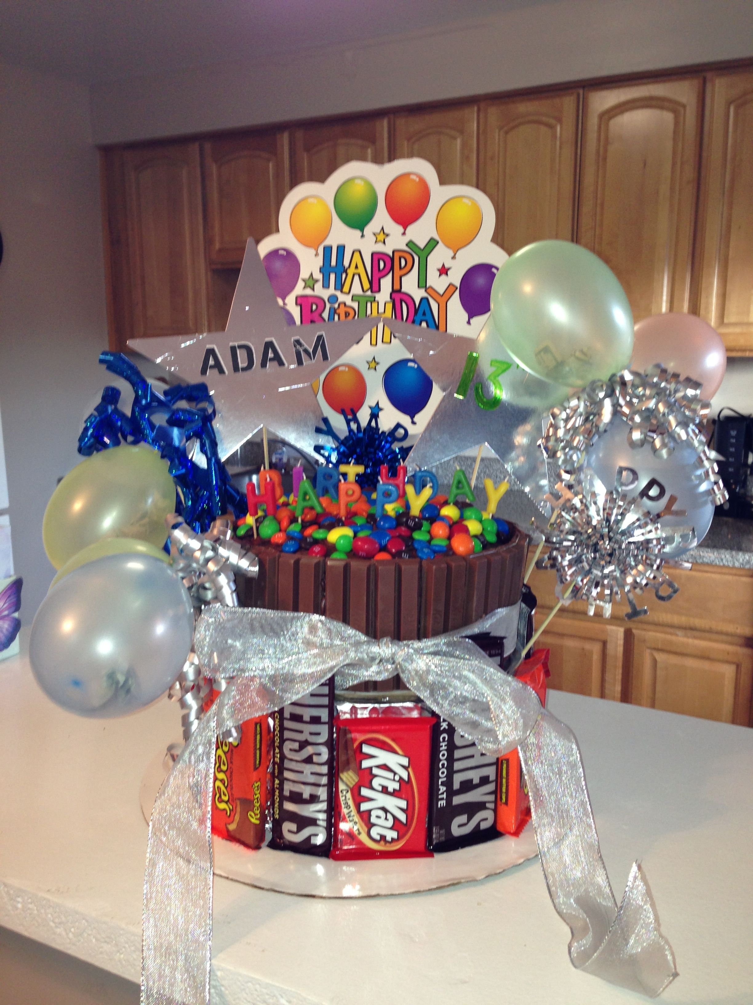 13 Year Old Candy Bar Kit Kat Cake Boy Birthday Parties Teenage Birthday Party 12 Year Old Birthday Party Ideas