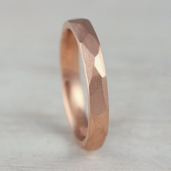 2mm 3mm Or 5mm Smooth Faceted Women S Wedding Band Gold Palladium Ring Hand Carved Facets Comfort Fit Geometric