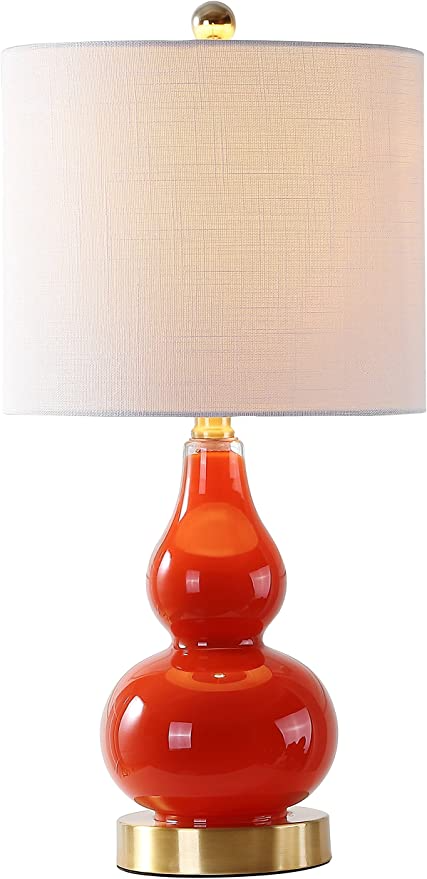 Jonathan Y Jyl1028g Anya 20 5 Mini Glass Table Lamp Sunset Orange 1 Amazon Com Table Lamp Glass Table Glass Table Lamp