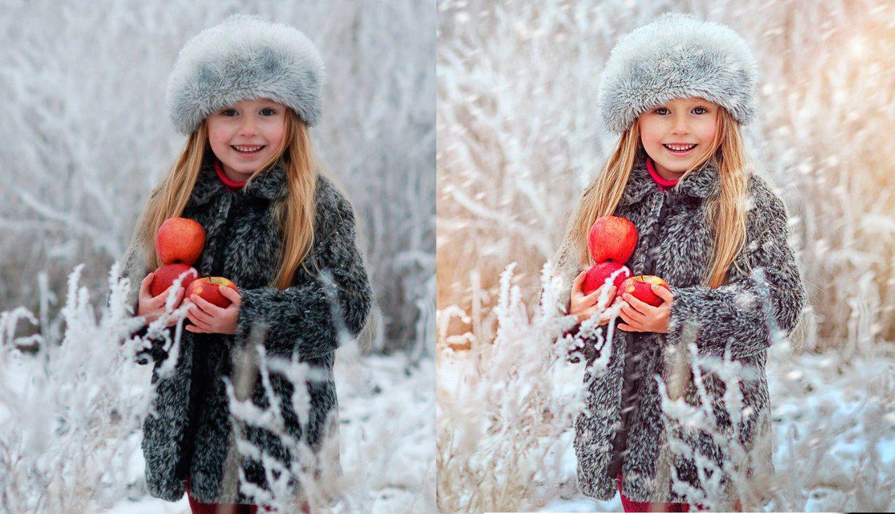 художественная обработка зимней фотографии несмотря то
