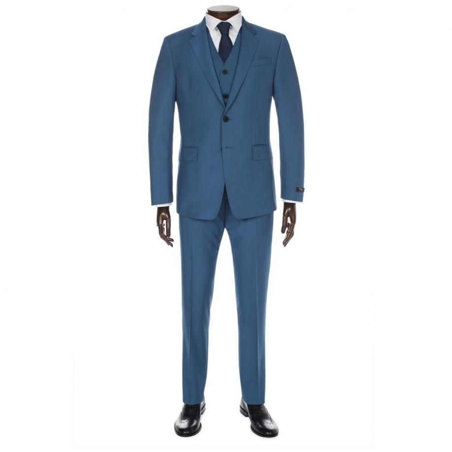 Paul Smith Men\'s Suits | Teal Wool And Mohair-Blend Three-Piece Suit ...