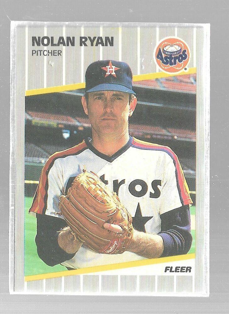 1989 fleer nolan ryan 368 houston astros baseball card
