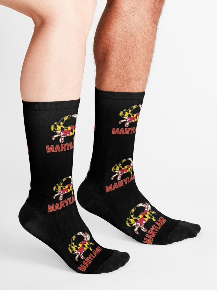 Maryland Flag Maryland State Crab Flag Socks By Vintagemashup In 2020 Maryland Flag Socks Flag