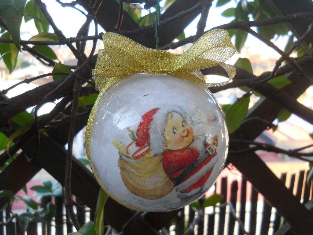 Tutorial Palline Di Natale Con Foto.Tutorial Palline Di Natale Con Decoupage Bricolage Di