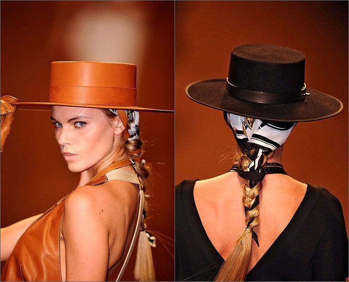 как носить шляпу с платком