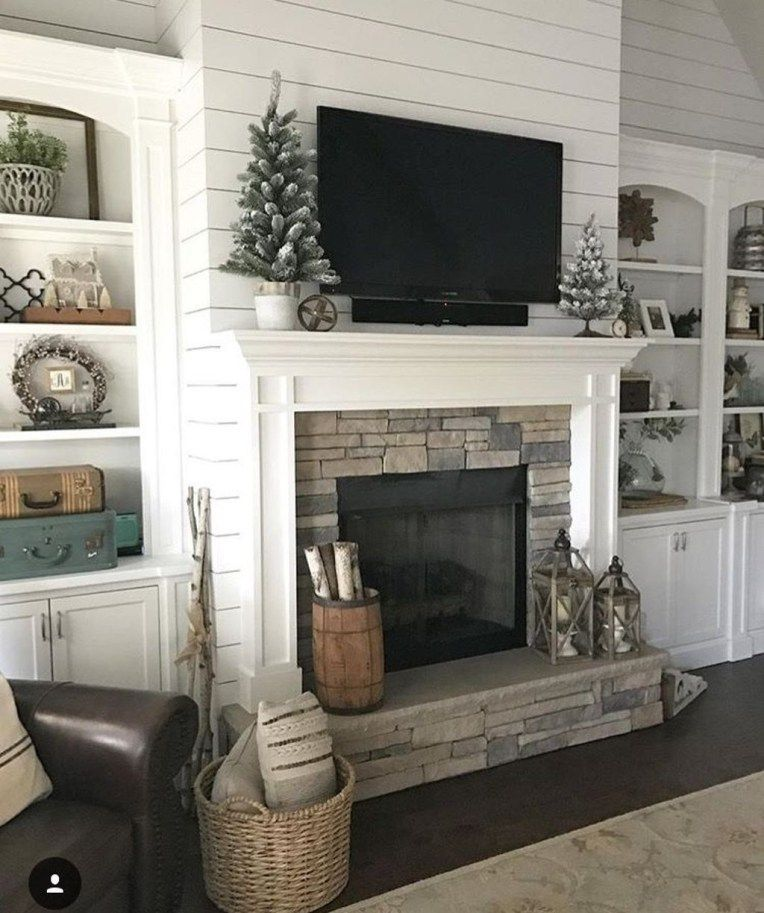 35 Awesome Farmhouse Fireplace Design Ideas To Beautify