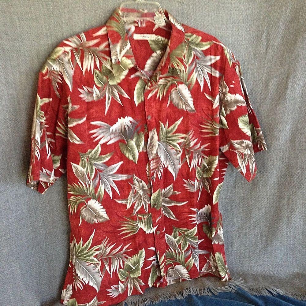 b9a8f19f3 Moda Campia Men's XL Brick Red Hawaiian Shirt #CampiaModa #Hawaiian ...