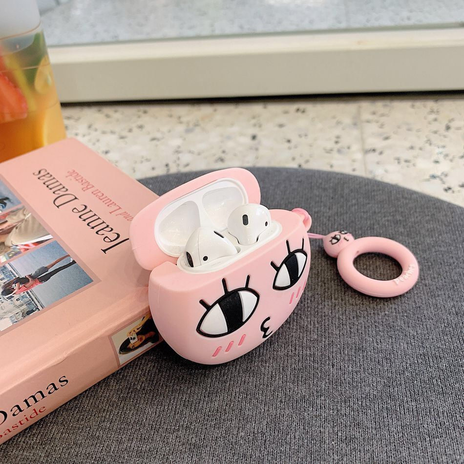 Peach Korean Airpod Case Cute Kaokao Talk Gift For