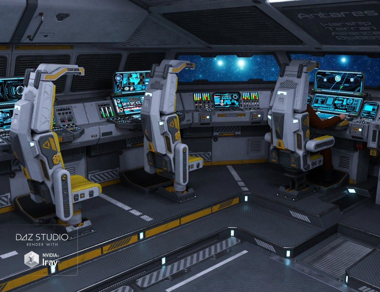 Sci Fi Cockpit Interior 3d Models And 3d Software By Daz 3d