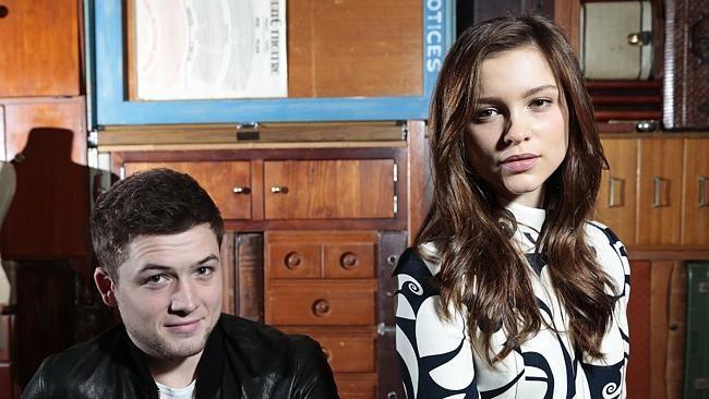 Colin Firth Taron Egerton Sophie Cookson About Kingsman: Taron Egerton And Sophie Cookson