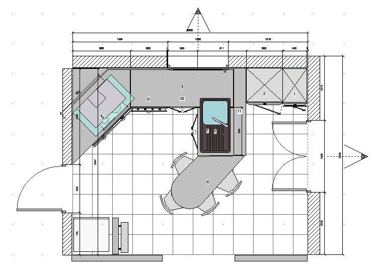Cuisine 10m2 plan recherche google cuisine pinterest for Plan cuisine ouverte 9m2