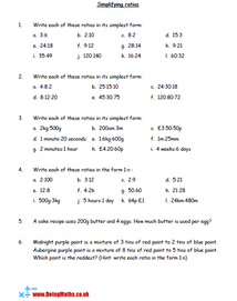 Simplifying Ratios Worksheet Ratios And Proportions Ratio And Proportion Worksheet Sixth Grade Math