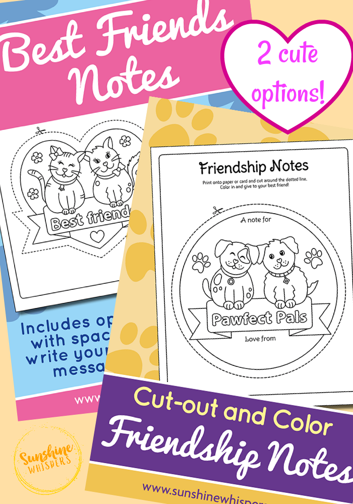 Super Cute Best Friends Coloring Page Notes Best Friend Notes Best Friends Coloring Pages