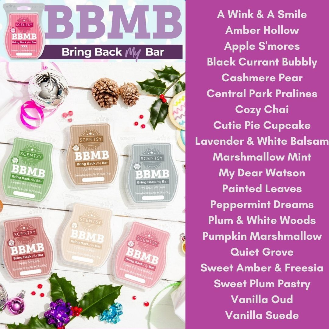 Lot of 2 Scentsy BBMB 2020 Retired Cherry Vanilla Bring Back My Bar New Unopened