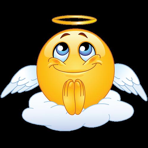 Praying Emoji Copy And Paste Angel Emoticon Emoji Images Emoticon Faces
