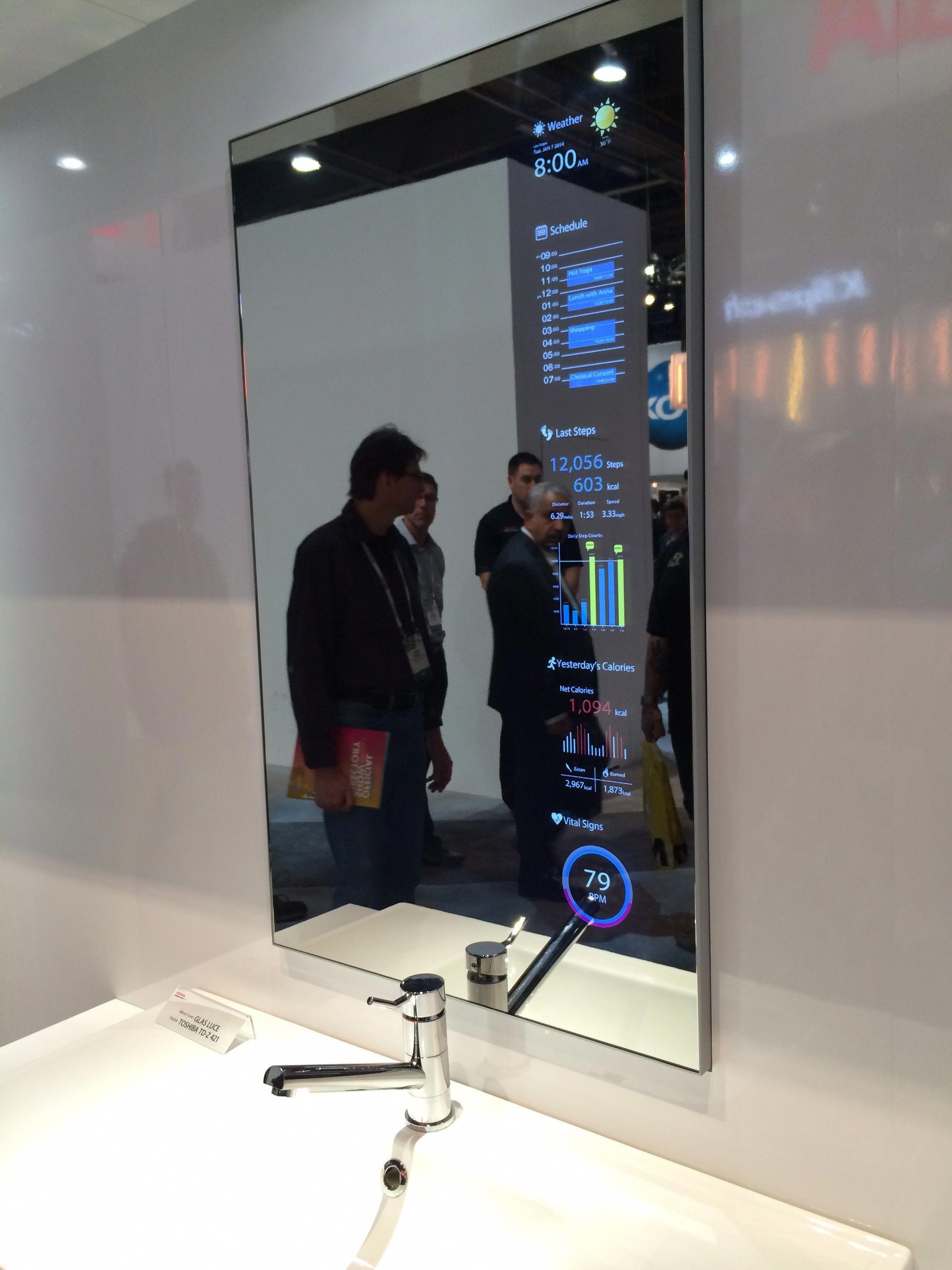 Smart Mirror Display Smarthome Home Technology Smart Home