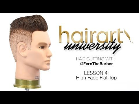 Watch: HairArt University with Fern the Barber Doing a High Fade Flat Top Pompadour