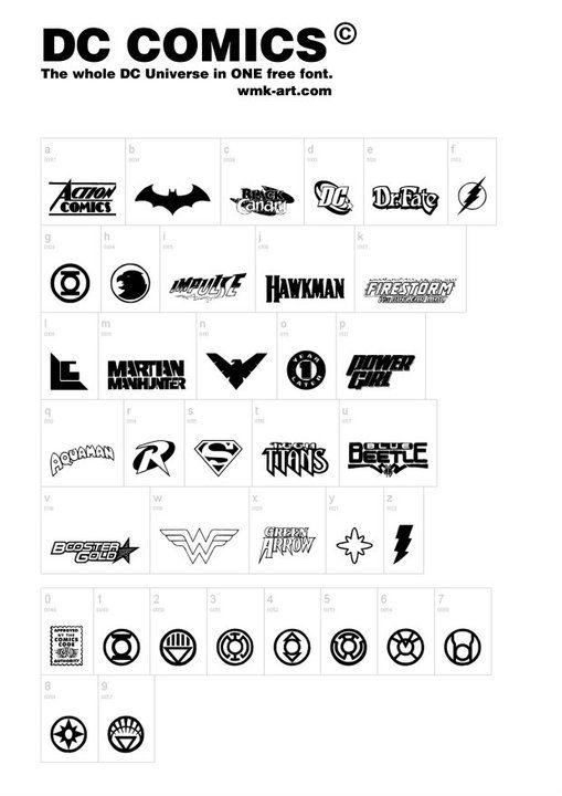Dc Comics Font Free Download Stencil Pinterest Fonts Comics