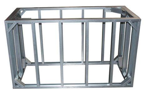Diy Bbq 5ft Straight Modular Frame Section 36 Standard Height Bbq Island Kits Bbq Island Outdoor Kitchen Kits