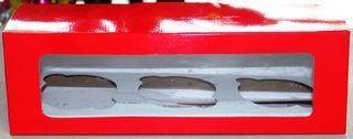 CUPCAKE X 3 CAJA DE 8X8X25 CMS. + VENTANA COLORES PLANOS SURTIDOS