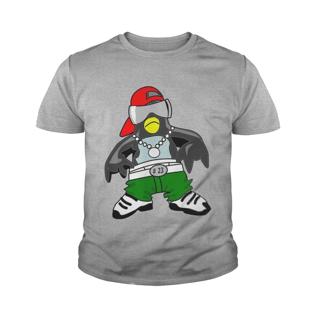 cool hip hop penguin swag-master comic cartoon style #gift #ideas