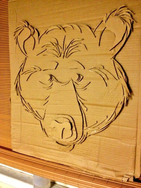 Cardboard Black Bear   Pinterest   Bears, Cardboard relief and ...