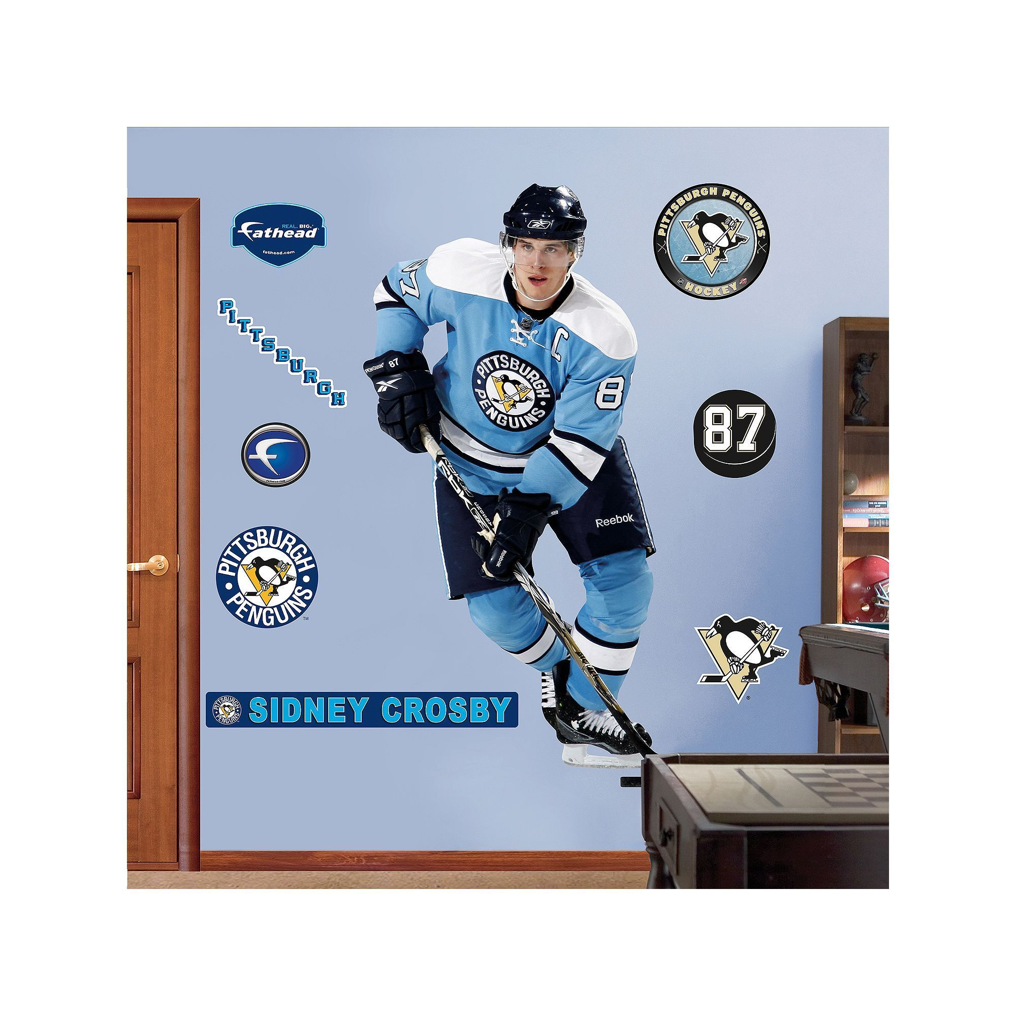 Fathead Pittsburgh Penguins Sidney Crosby Retro Wall Decal Multicolor Durable  sc 1 st  Pinterest & Fathead Pittsburgh Penguins Sidney Crosby Retro Wall Decal ...