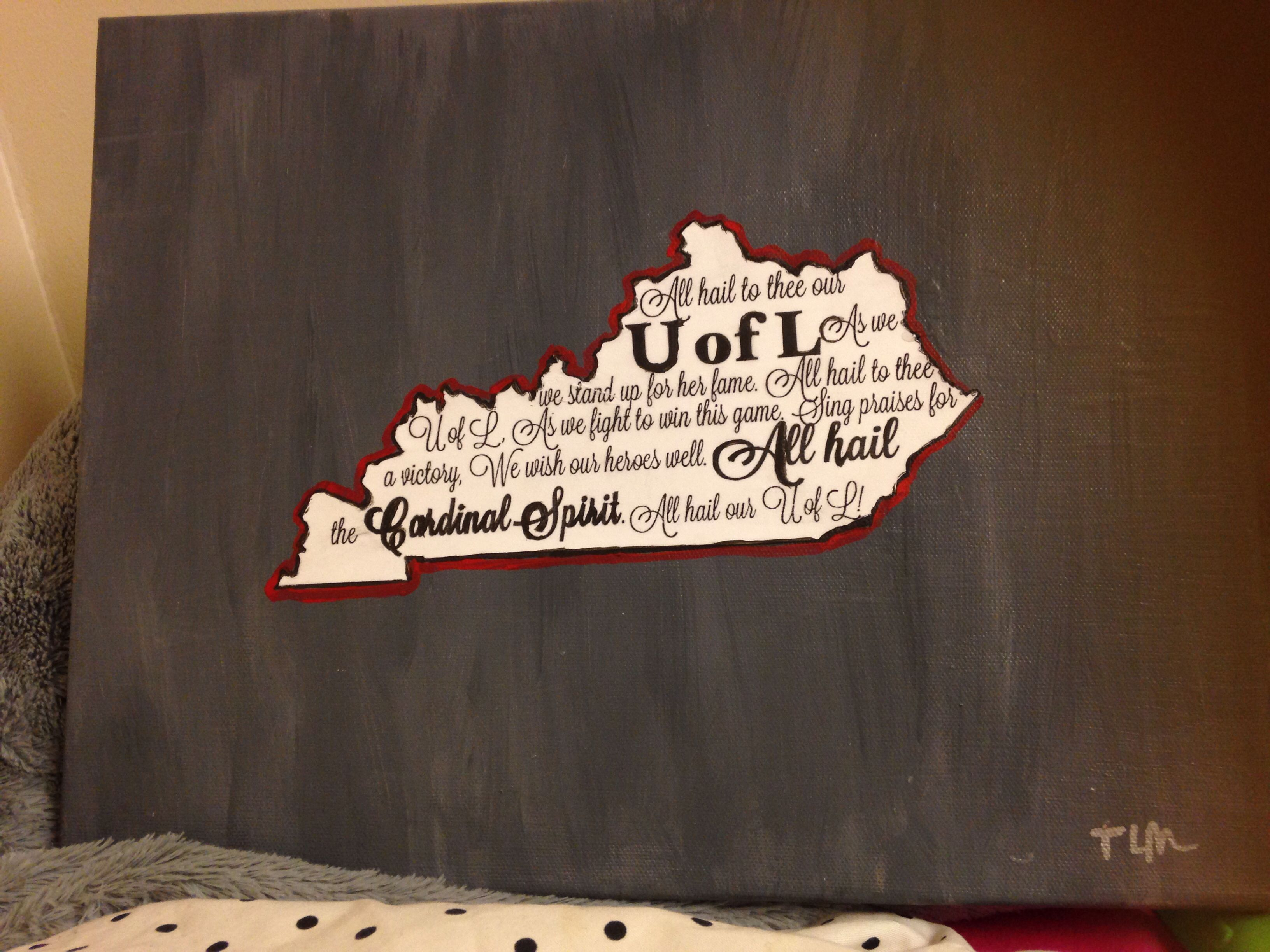 University Of Louisville Canvas All Hail Cardinal Spirit I Cant