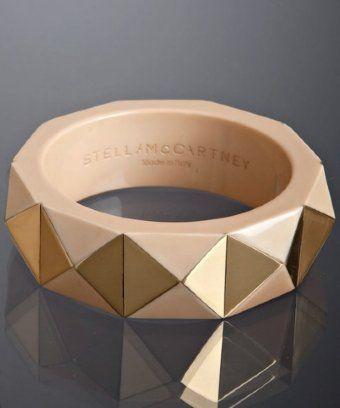Stella McCartney     tan brass pyramid bangle