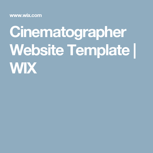 Cinematographer Website Template WIX Future LL Pinterest - Cinematographer website templates
