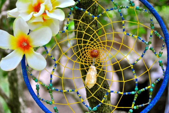 Hawaiian Dream Catcher Unique Plumeria Hawaii Dreamcatcher by LilYellowSpider on Etsy 37
