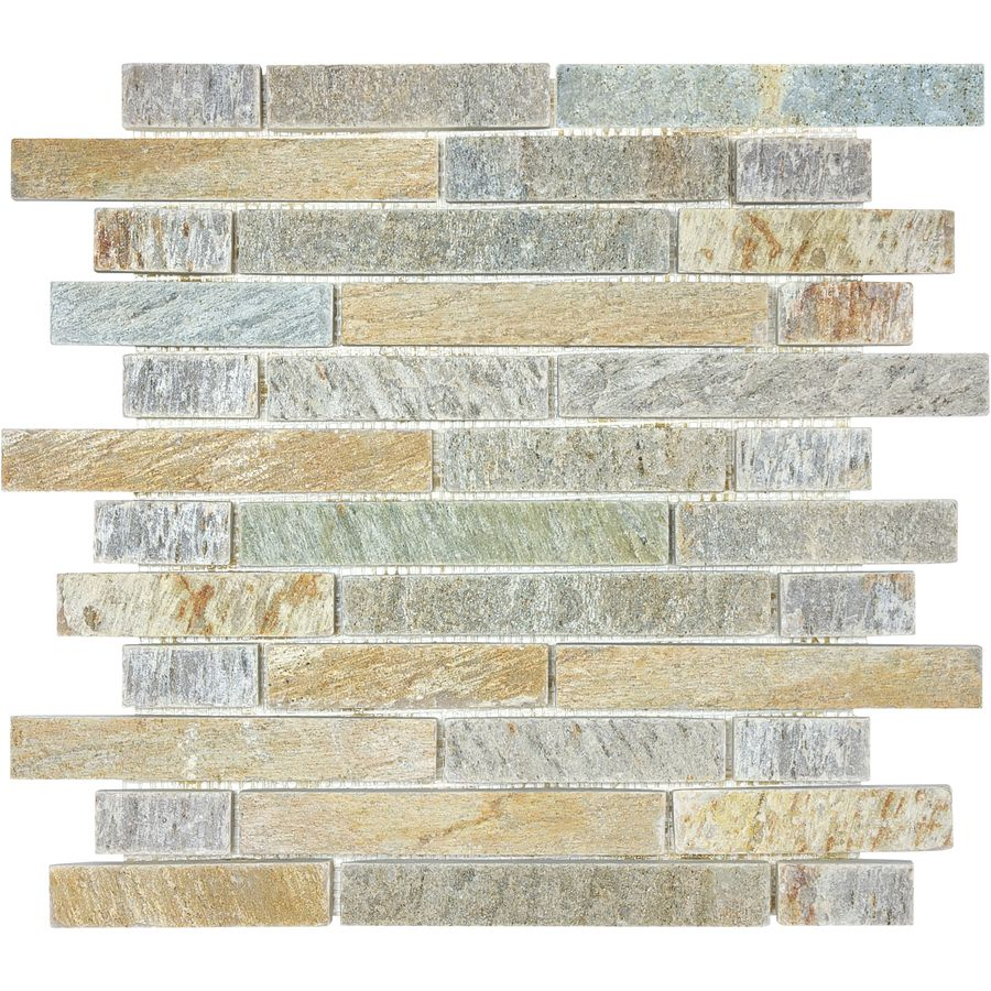 12 In X 14 Gray Natural Stone Mosaic Wall Tile Actuals
