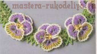 Master class on beading: Necklace Pansies  #Seed #Bead #Tutorials