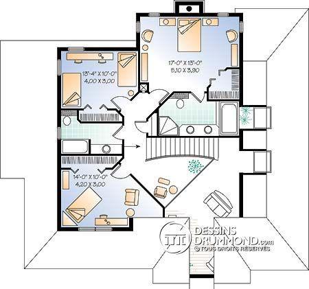 Plan de Maison unifamiliale W2888 Décoration Pinterest Sims - plan de maison design
