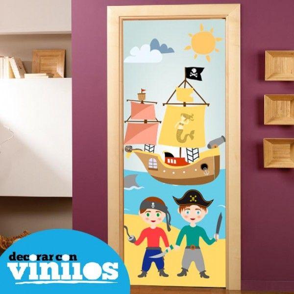 puerta infantil piratas puertas infantiles decorar