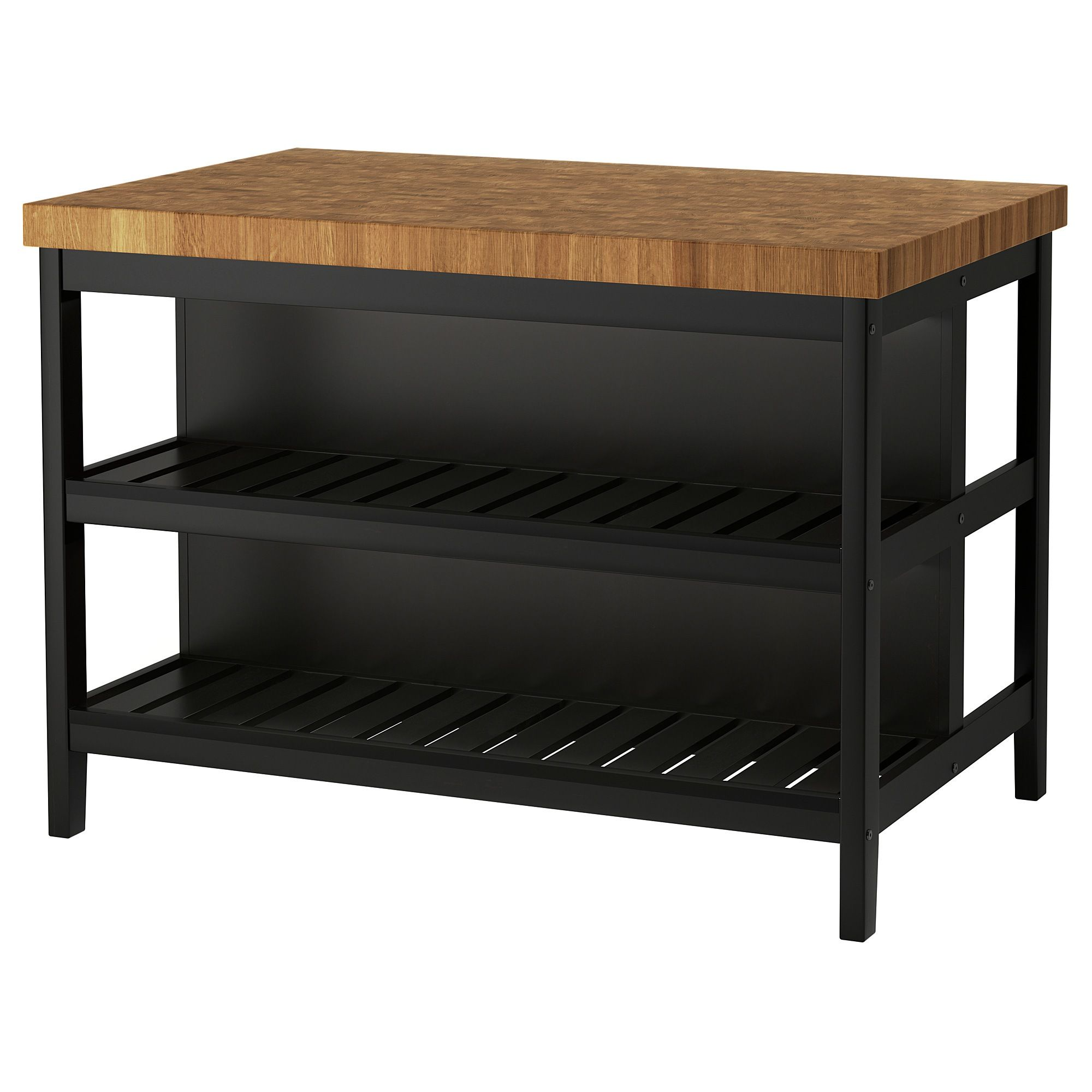 Ikea Vadholma Kitchen Island Black Oak