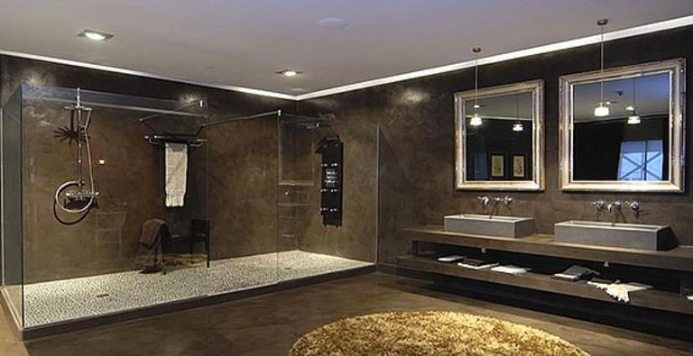 Grande salle de bain marron | salle de bain | Pinterest | Salle de ...