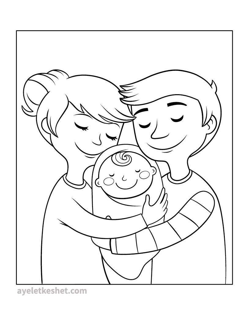 Free Coloring Pages About Family That You Can Print Out For Your Kids Family Coloring Pages Family Coloring Puppy Coloring Pages