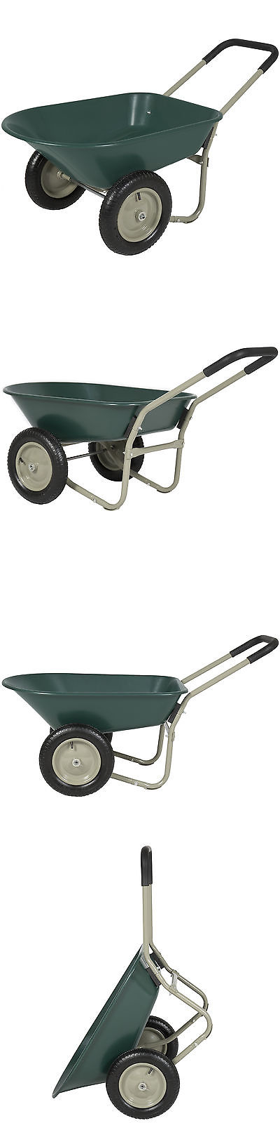 Wheelbarrows Carts and Wagons 75671: Best Choice Products Dual Wheel