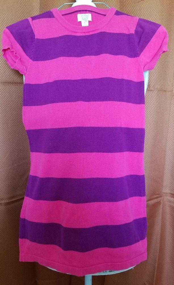 The Childrens Place Girls Medium 78 Dress Pink Purple Stripes Short
