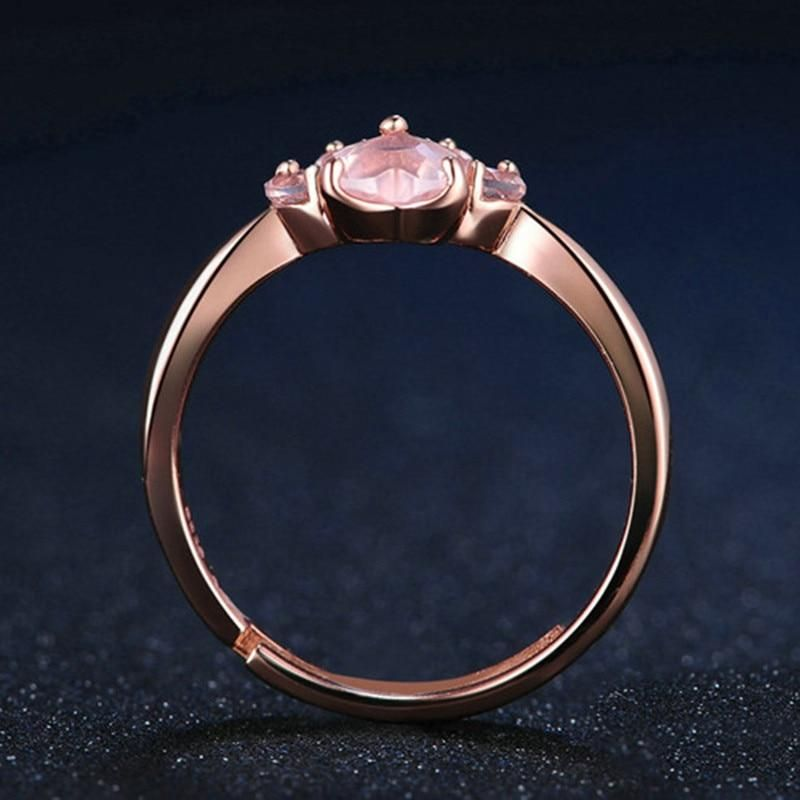 Cute Cat Claw Opening Ring Footprint Plated Adjustable Ring