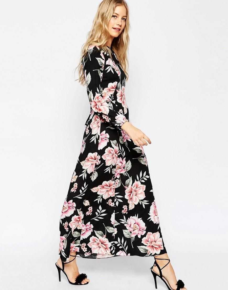 Asos asos floral maxi dress with tie front at asos my style
