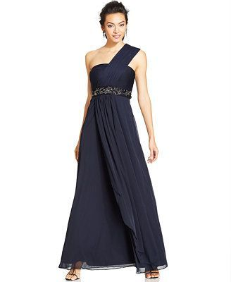 Cool Macy Formal Dresses Patra Petite One Shoulder Empire Waist Gown