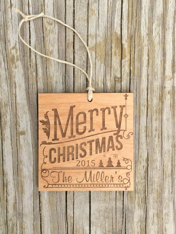 Wood ornaments, engraved christmas ornament, laser engraved, gift tags, Personalized by StoneEffectsMD
